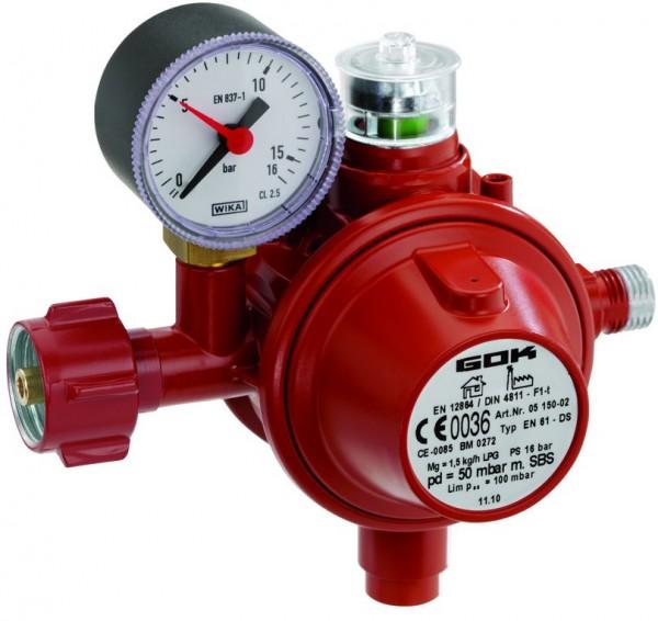 Gasregler für den gewerblichen Betrieb einer BEEFBOX
