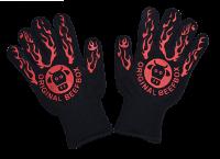 Grill- / BBQ-Handschuhe (Paar) aus Aramidfasern, mit Silikondruck, 500°C hitzebeständig