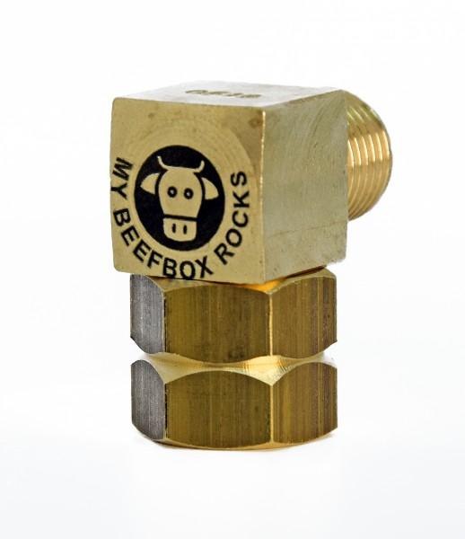 Gasadapter mit Logo